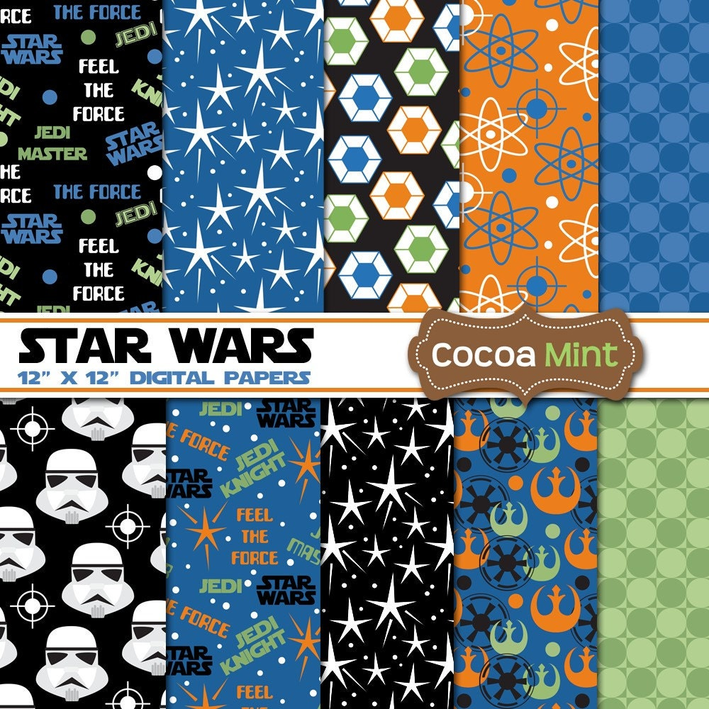 star wars digital papers star wars digital papers 128270zoom