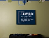 Definition Of A Boy Subway Art // Blue and White // 16x20 // Printable PDf