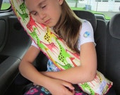 Seat Belt Pillow with pocket - DESIGN YOUR OWN - Made To Order