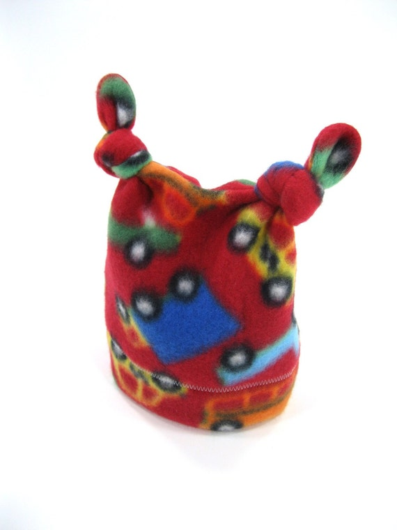 Colorful Cars Noggin Double Knot Hat 3-6M