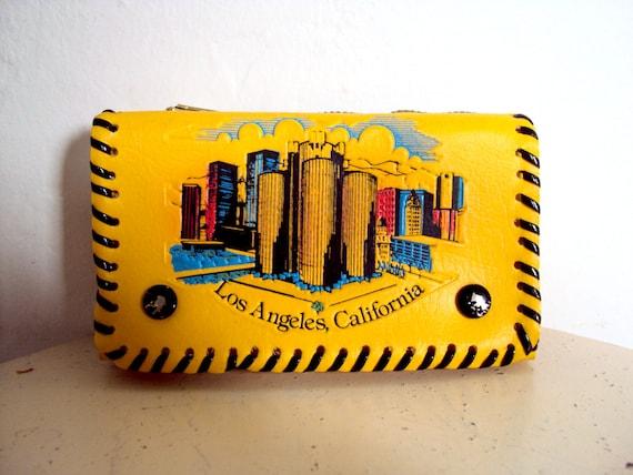 Vintage Souvenir Los Angeles California Wallet