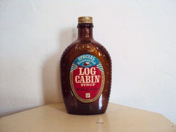 Items similar to vintage log cabin syrup bicentennial