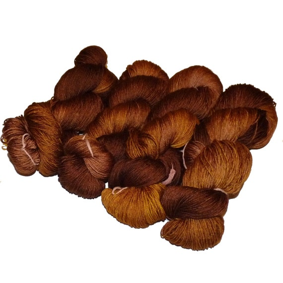 Superwash Merino & Silk  Sock Yarn Tarte au Chocolate