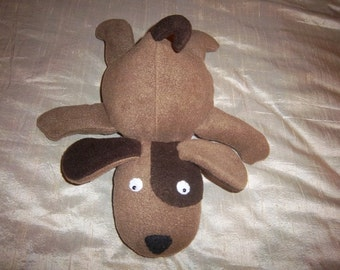 Floppy Plush Puppy- Browns