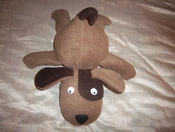 Floppy Plush Puppy- Browns