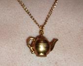 Vintage Style Cute Teapot Charm Pendant Necklace