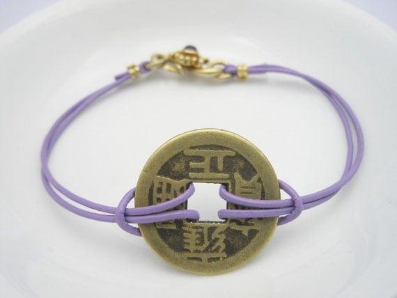 Spiritual Good Luck Bracelet Purple Style No GLB01