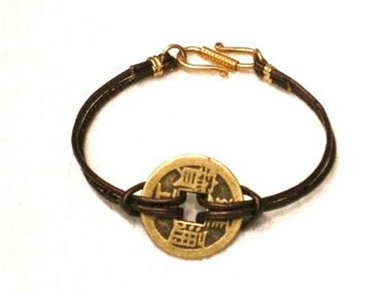 WISDOM/Good Luck Bracelet Metallic Brown Style No GLB20.