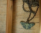 Brass Moth Necklace