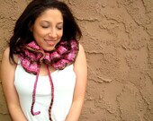 Hand Knitted Neck Warmer - Knitted Scarf - Knit Cowl - Ruffled Scarf - Winter Fashion - Gift for Her