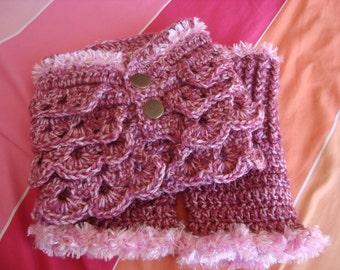 Crochet Neck Warmer and Wrist Warmer Set - Crochet Cowl - Fingerless Gloves - Fashion Accessories