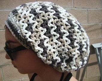 Crochet Mesh Hat - Open Weave Hat - Crochet Tam - Slouchy Hat -  Summer Fashion - Fashion Accessories