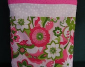 Sparkly Flowers Tote, Soft and Cuddly, for Toddlers and Preschoolers