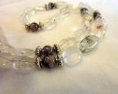 Quartz Amethyst Gemstone Necklace - 16 Inches - Classy Girl