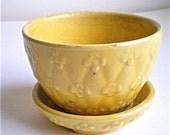 Shawnee Pottery, Yellow, Pot, Vintage, Planter, 1950s