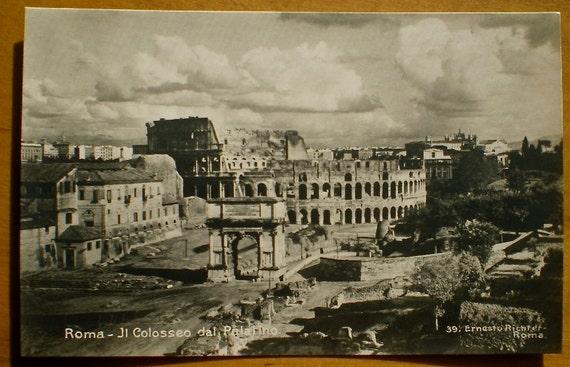 Colosseum Rome Vintage Postcards Photographic Historic
