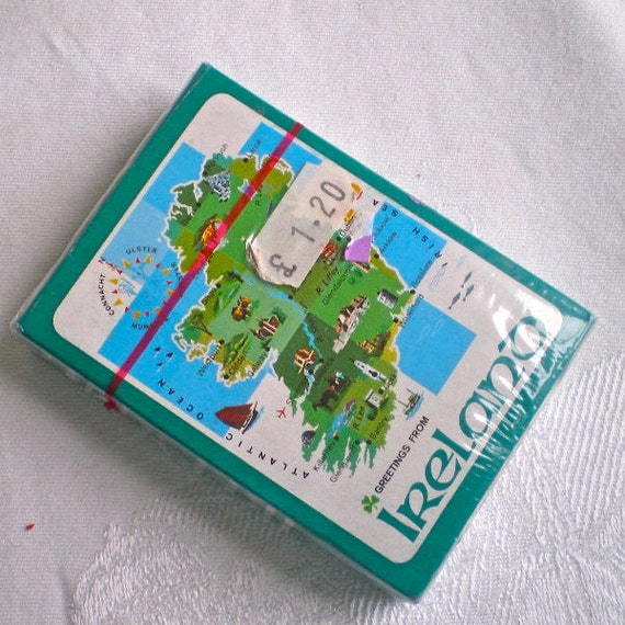 Irish, Ireland, Cards, Playing Cards, Unused, St. Patrick's Day, Vintage Playing Cards