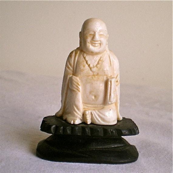 Ivory, Budda, Carving, Vintage, Smiling Budda, Pre Ban Ivory, Hand Carved, SALE