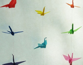 Origami Crane Mobile, made to order