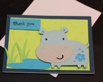 Thank You Hippo Cards - Set of 4