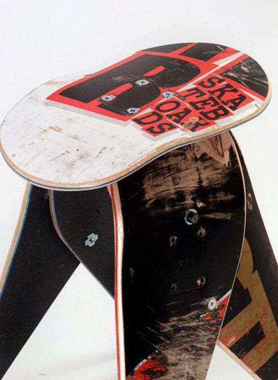 No.283 - Recycled skateboard stool