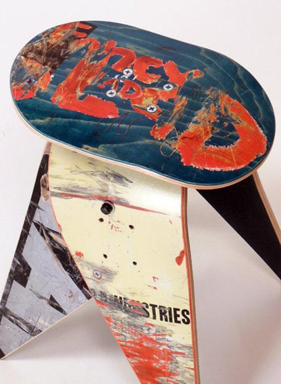 No.286- Recycled skateboard stool