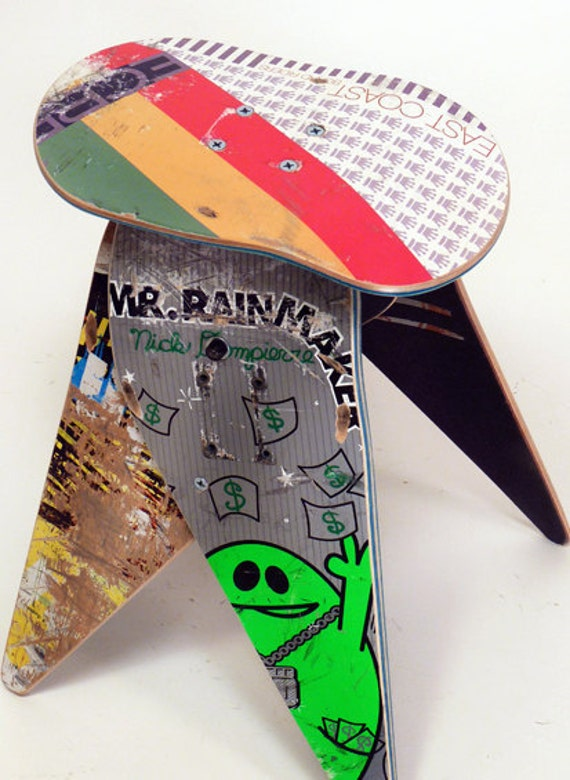 No.296 - Recycled skateboard stool