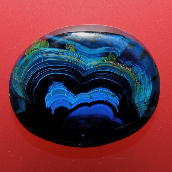 RESERVED for MARK  Bisbee Banded Azurite 100% Natural Hand Cut Cabochon from Arizona, free shipping