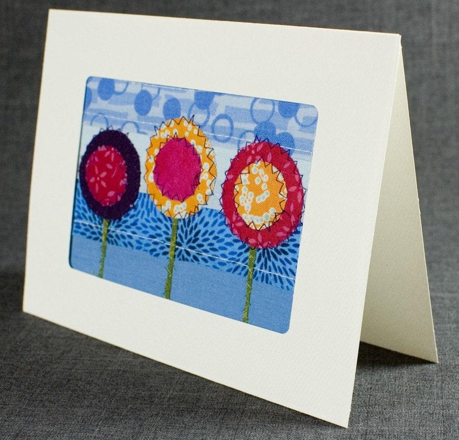 Fabric Card Handmade Greeting Card Quilt Card Blank