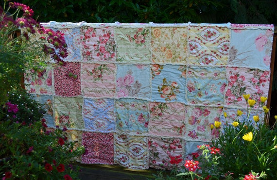 Floral Shabby Chic Quilt