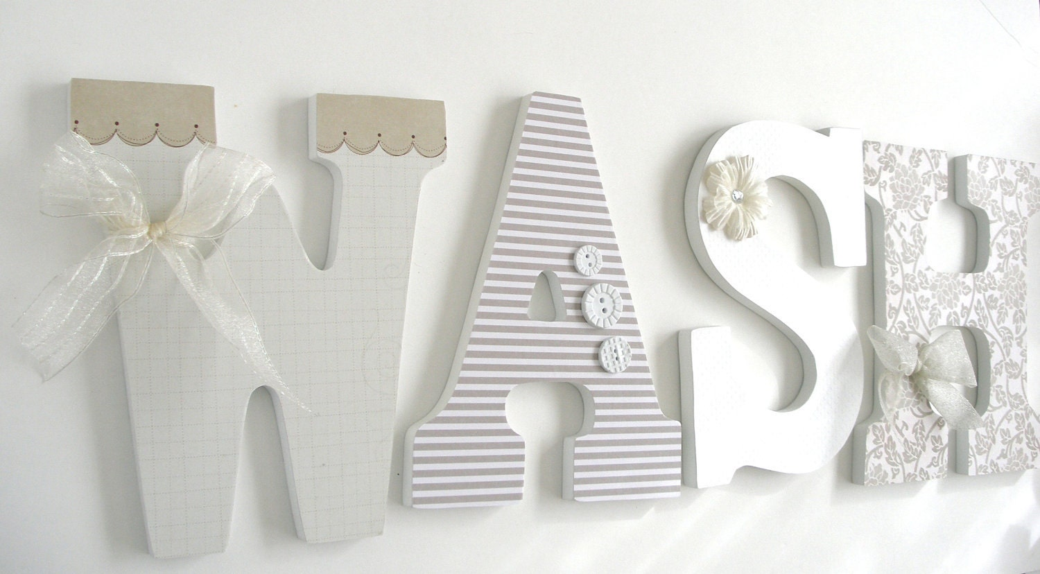 Wall decor letters for nursery homes decoration tips - Wood letter wall decor ...