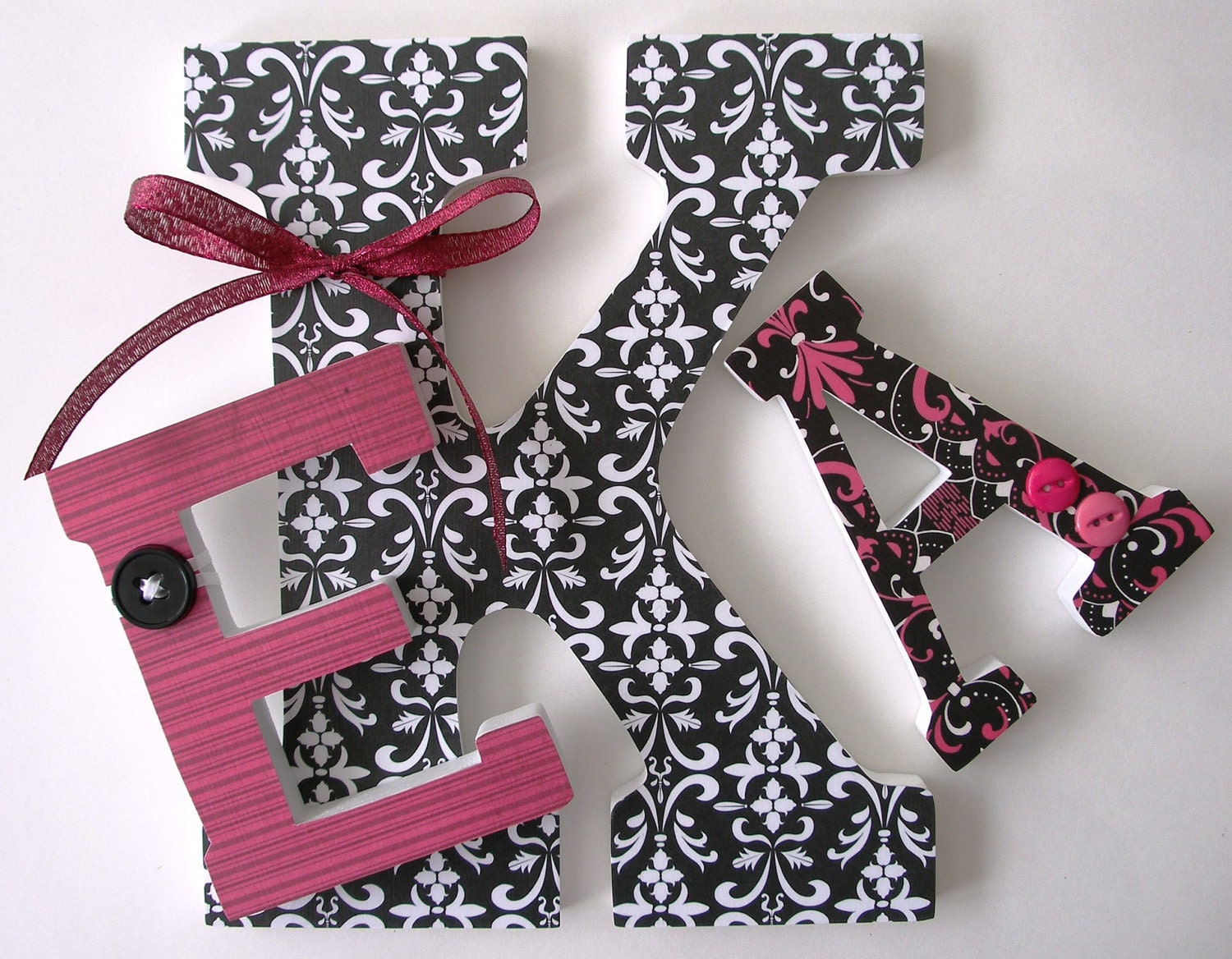 Decoupage Wooden Letters Decorated Wooden Letters