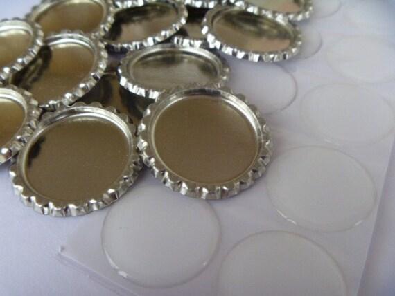50 epoxy drops and 50 flattened bottle caps DIY kit