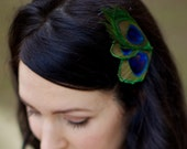 Hailey ... Petite Peacock Fascinator