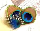 Portia ... Petite Peacock Fascinator