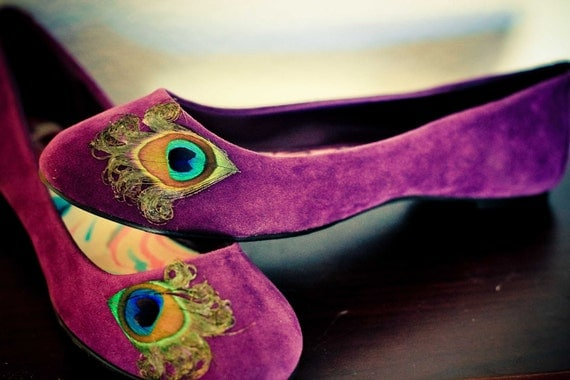 Purple  Peacock Flats ... Size 7.5