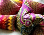Reserved SisterBATIK Bazaar - Six Decorative Pillow covers Genuine wax print 100% cotton