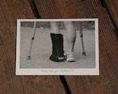 Card For Runners, Injured Runner, PEOP053