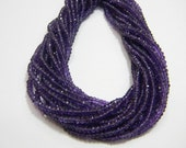 AAA Quality African Amethyst Micro Faceted Roundell 14 inch strand pack of 2 strands 3 mm approx