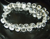 AAA Quality Crystal Quartz Heart Cut Beads 9 inch strand pack of 2 strands 7 mm approx