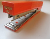 Vintage 1970s Novus Orange B2 24/8 Stapler