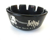 1960s Vintage Jillys Ashtray Frank Sinatra Rat Pack, Mid Century, Authentic Artifact, Barware