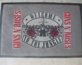 1980s Vintage GUNS 'N ROSES - Welcome to the Jungle Welcome Mat - Free Shipping