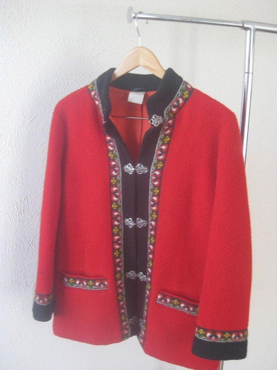 Vintage Norwegian Traditional Coat, Bohemian Chic