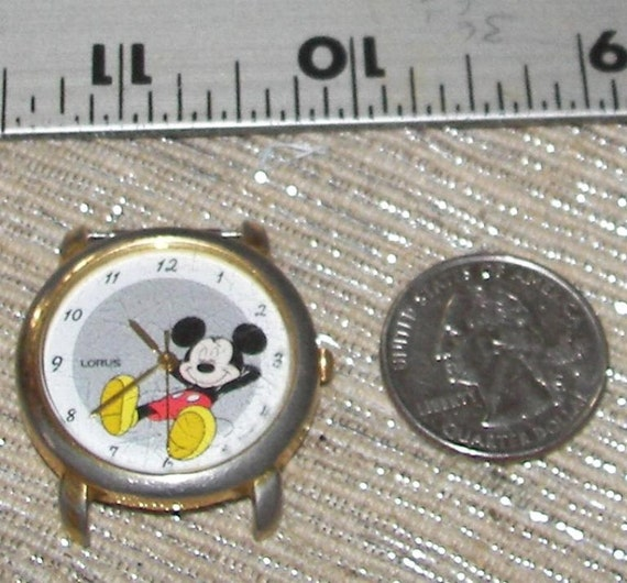 Vintage Mickey Mouse Wrist Watch Face retro