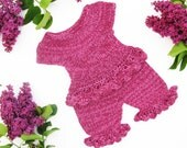 Purple set of top and pants for little lady