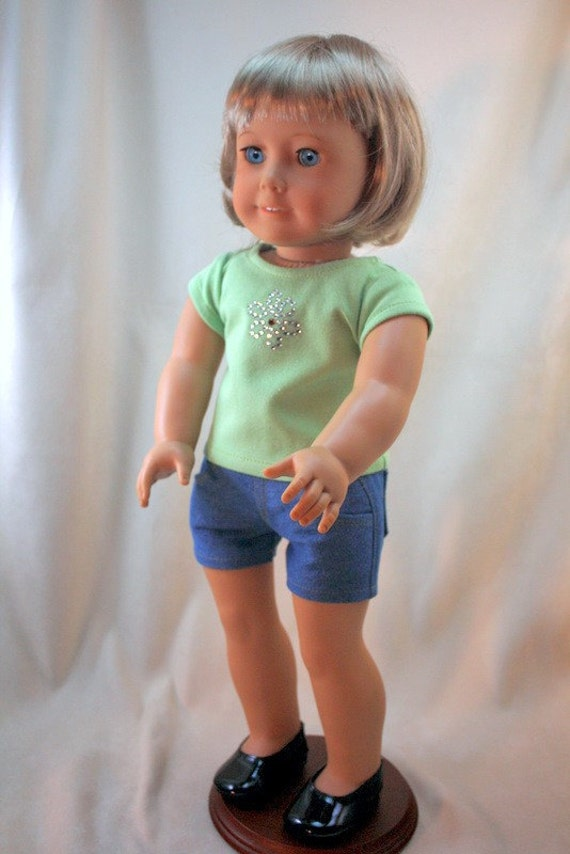 American Girl Doll Clothes,Denim Shorts and T shirt