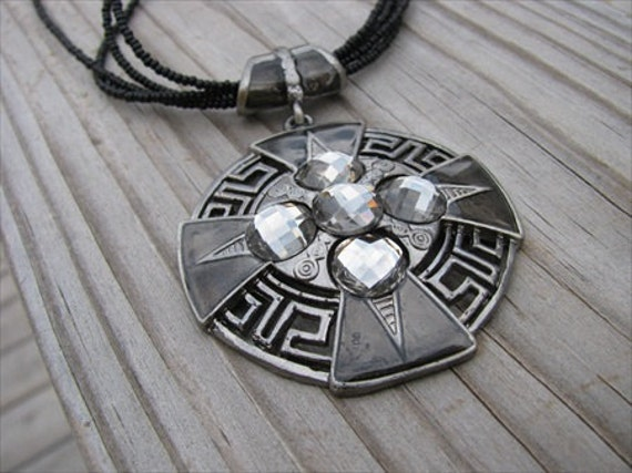 SALE- Antique Silver Medallion Necklace- ONLY 1 AVAILABLE