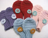 Crochet Pattern - Thumbless Baby Mittens - Sweet Little Rounded Mittens - PDF File