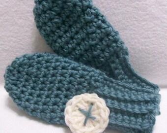 PDF file - Crochet Pattern - Sweet Little Mittens